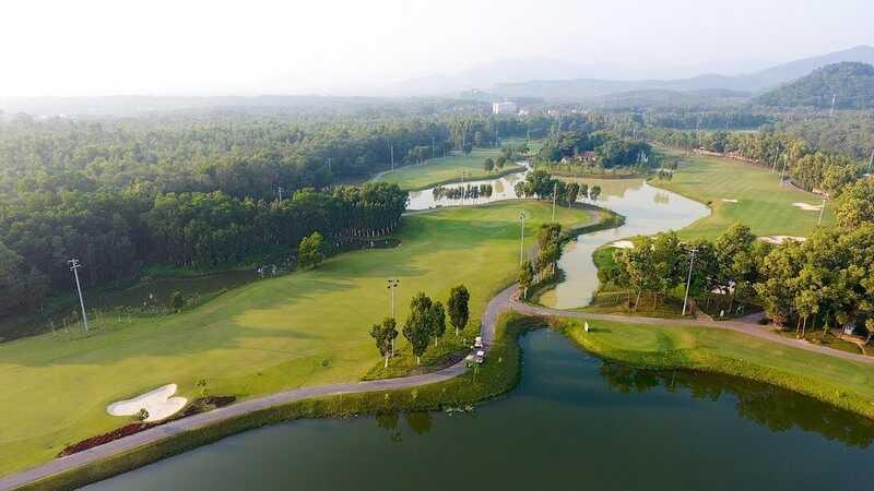 Khung cảnh tuyệt đẹp của Sân golf Đại Lải