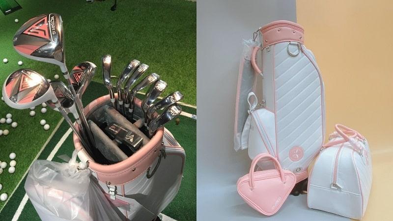 Thông tin về chiếc gậy golf Kenichi Victory.G mắt dành cho nữ với màu hồng
