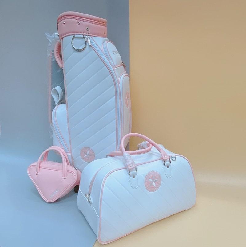 Túi đựng gậy Golf Victory.G Kenichi Lady được thiết kế màu sắc trắng hồng trang nhã