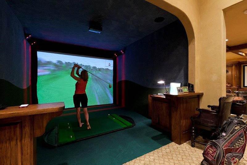 Phòng siêu công nghệ Cyber Golf chỉ có giá khoảng 500 triệu đồng
