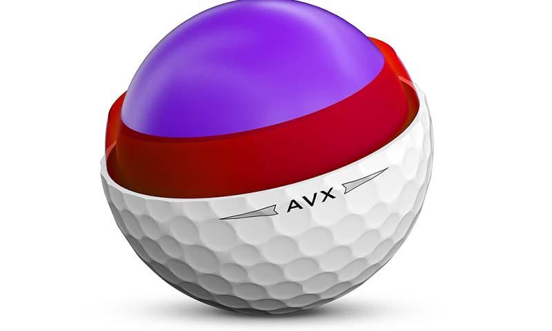 Cấu tạo của bóng golf 3 lớp được chia thành các tầng rõ ràng