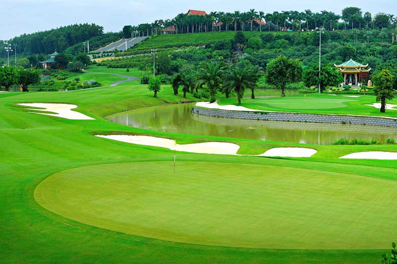Sân golf từng được tổ chức nhiều trận đấu