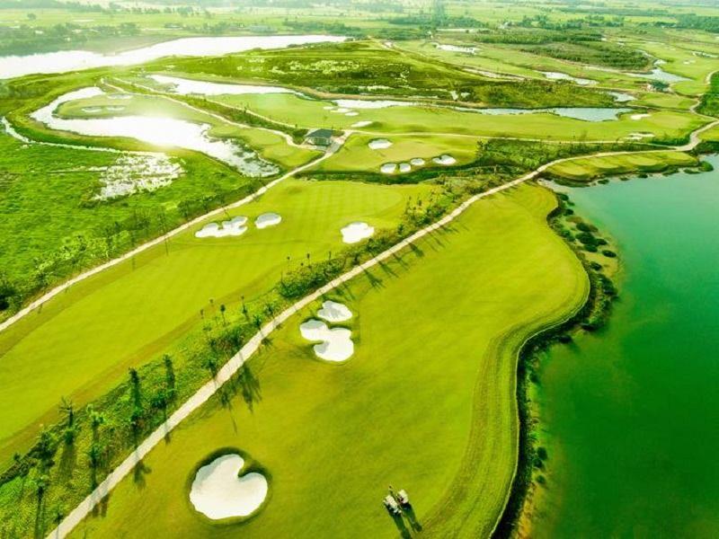 Sân golf Tân Mỹ với tổng diện tích 120ha