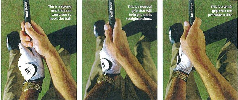 cách cầm gậy golf