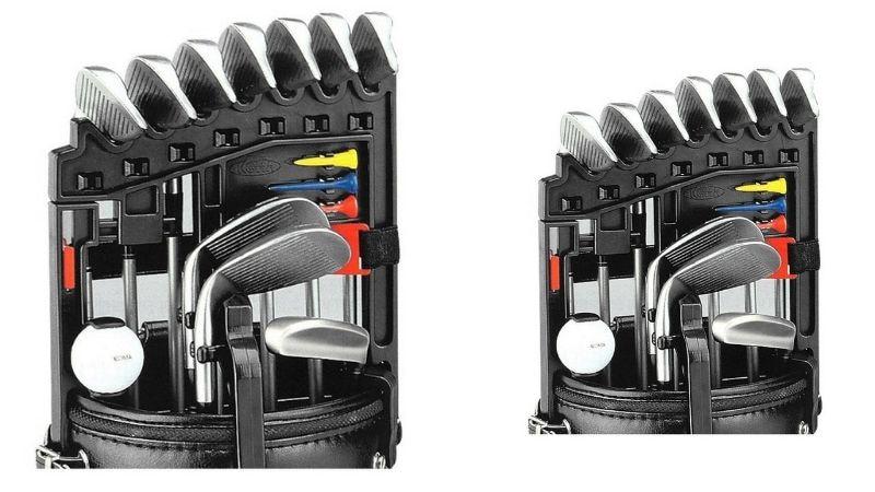 Gậy golf Koma Iron Holder được làm từ nhựa ABS đen