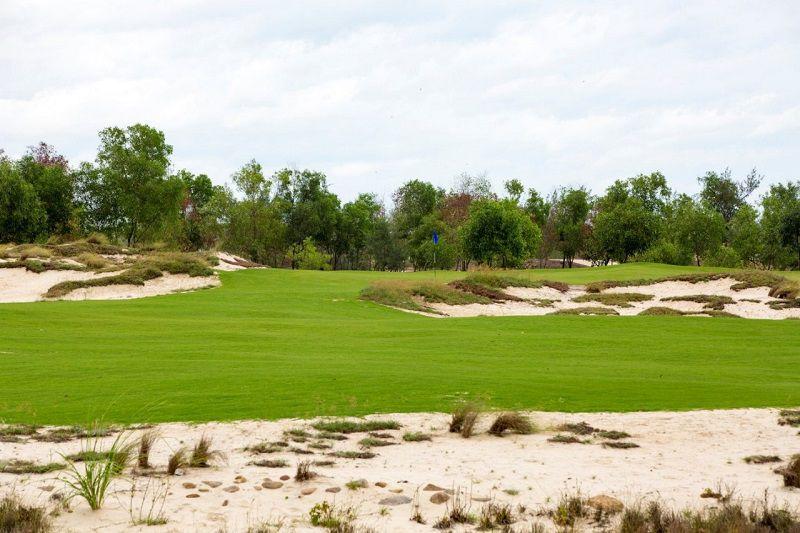 Cồn cát trải dài tạo nên một khung cảnh bán sa mạc
