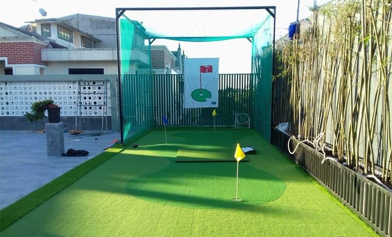 Chỉ cần không gian từ 25m2 trở lên là có thể bố trí được khu vực tập luyện cho người chơi golf tại nhà
