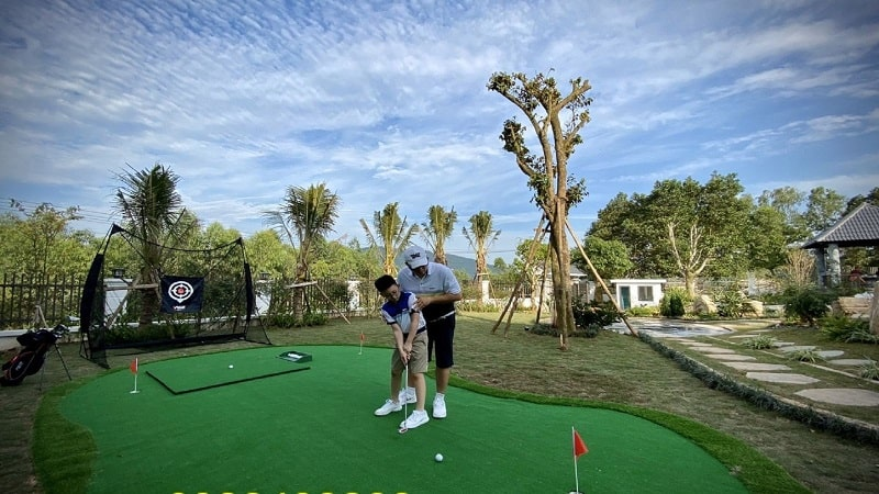 mini golf sân vườn
