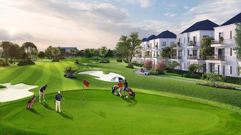 hình ảnh sân golf trên dự án