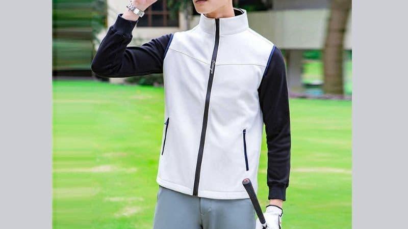 Áo khoác golf có tác dụng chắn gió và giữ ấm cực tốt cho các anh em golfer