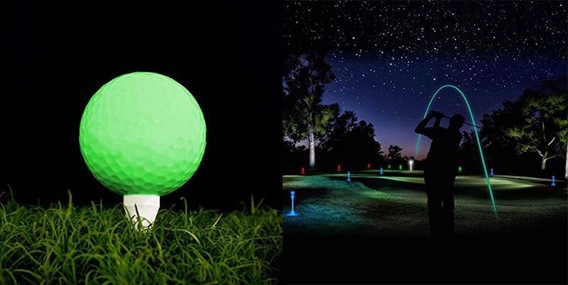 Khả năng phát sáng của bóng golf dạ quang là nhờ được ngâm trong các hợp chất phát sáng