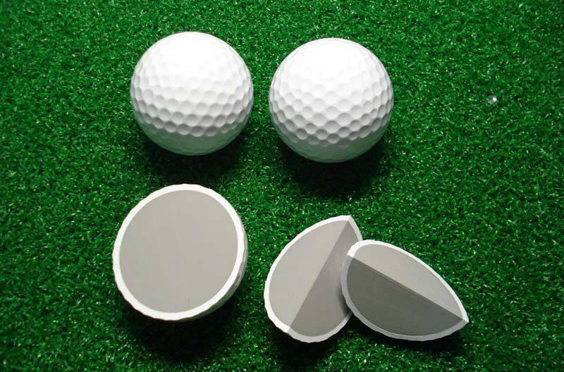 Cấu tạo của bóng golf 2 lớp gồm lớp vỏ bóng và lõi