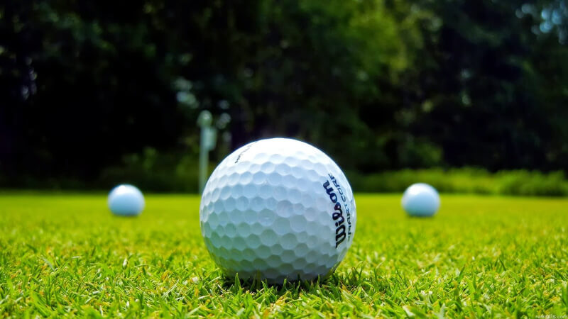 Lớp vỏ bên ngoài của bóng golf thường làm bằng chất liệu Surlyn