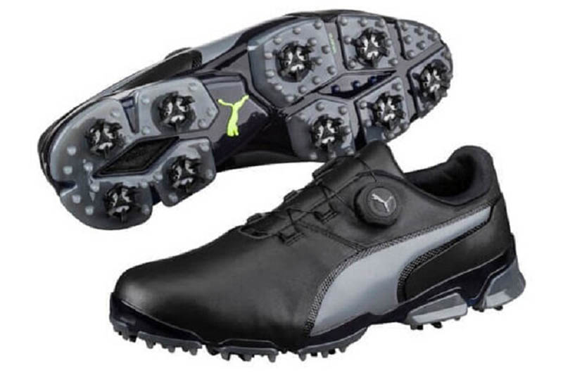 Đôi giày golf Puma với phần đinh tán ở đế cá tính và độc đáo