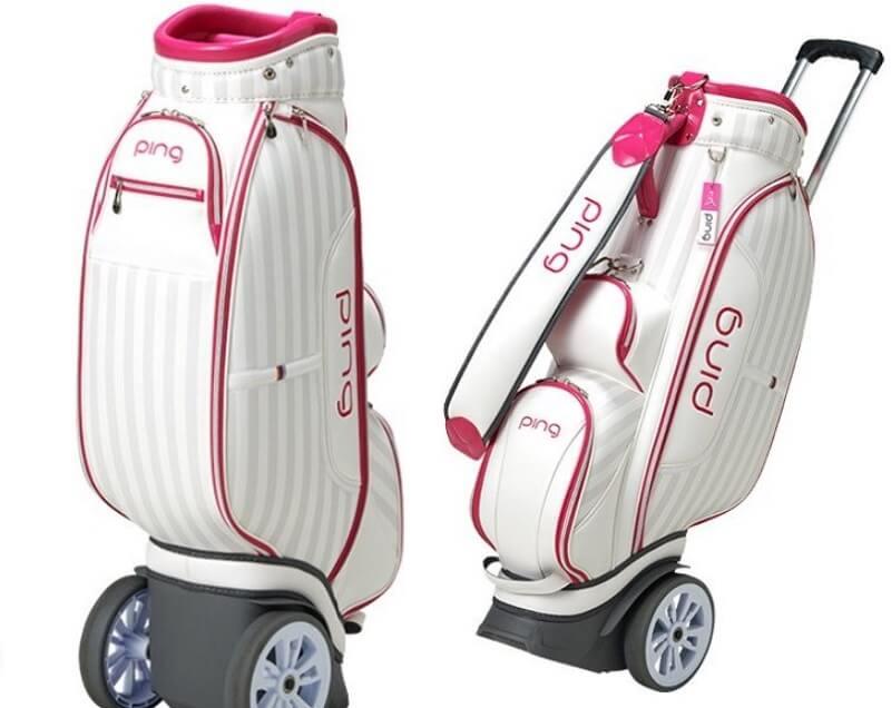 Túi đựng gậy đến từ thương hiệu Ping thường có thiết kế bắt mắt