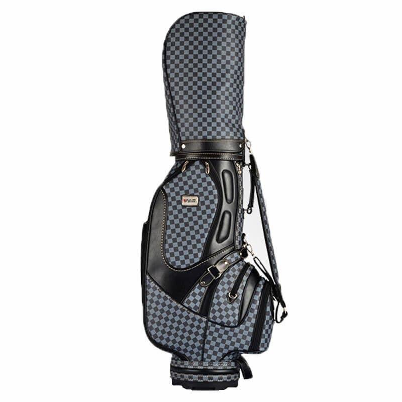 Túi PGM Plaid VS Men Staff Golf Bag làm từ da PU chất lượng cao tạo nên vẻ ngoài vô cùng sang trọng, đẳng cấp