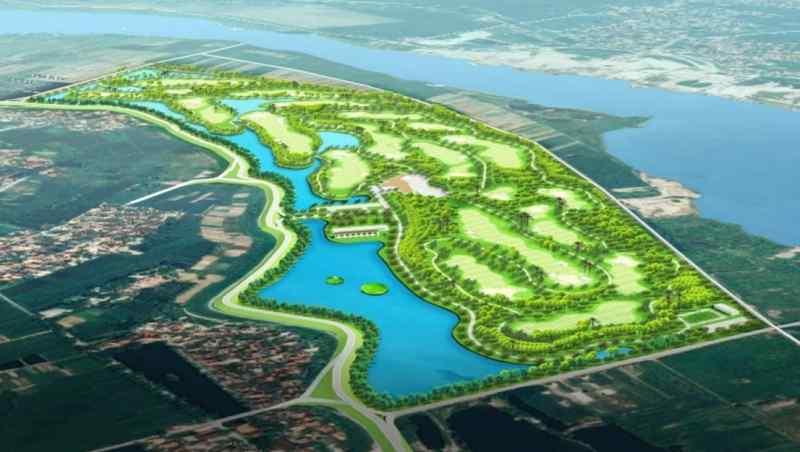 Sân golf Bắc Ninh được xây dựng bên bờ sông Đuống