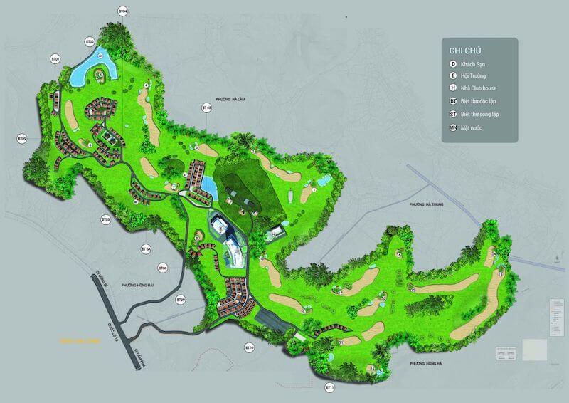 Sơ đồ vị trí sân Golf FLC Quảng Ninh