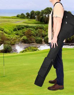 Túi đựng gậy tập golf rất mềm, dễ dàng gấp gọn khi không sử dụng