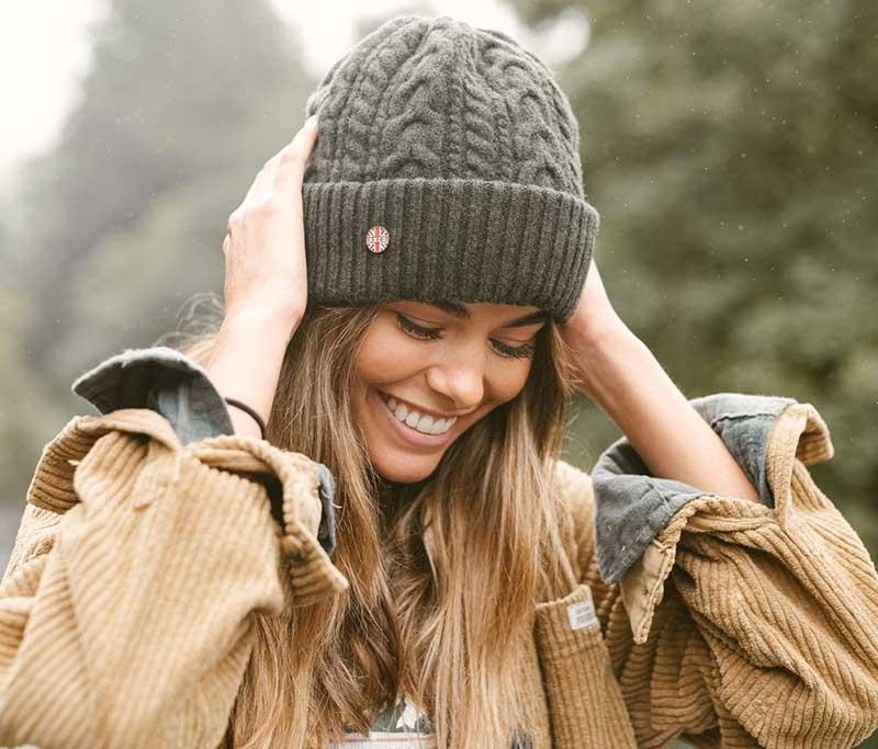 Kiểu mũ len giữ ấm rất tốt