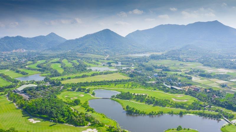 Sân golf Hà Nội Club ở góc nhìn toàn cảnh