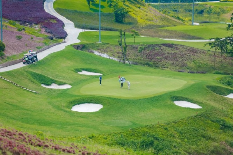 Dự án Khu đô thị sinh thái và sân golf Phú Mãn đang trong quá trình thi công