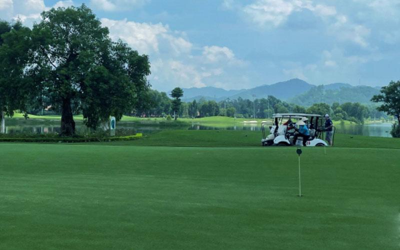 Sân golf trải nghiệm là khu vực chiếm nhiều diện tích nhất của dự án