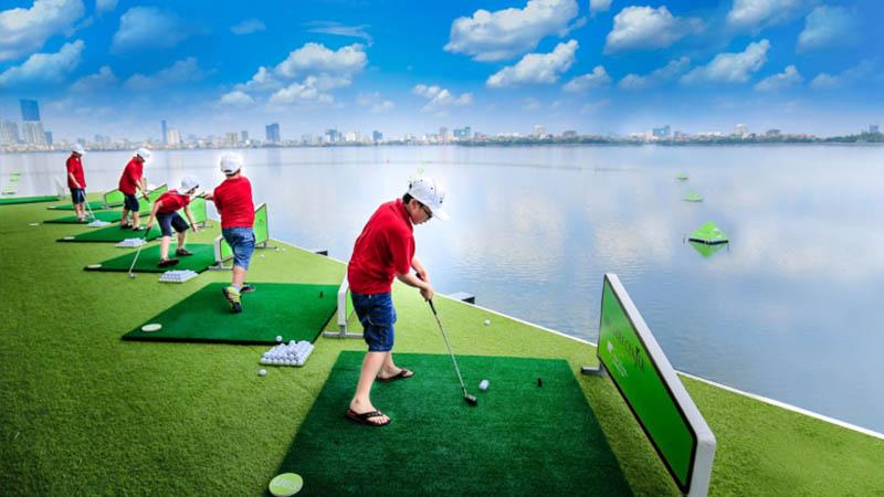 Sân tập golf khách sạn Thắng Lợi được nhiều golfer yêu thích